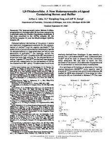 1,2-Thiaborolide: A New Heteroaromatic π-Ligand Containing Boron