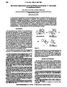 (1,3-Dithian-2-yl)indoles. 7. Synthesis of Aspidospermidine - American