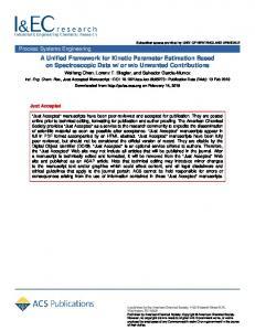 A Unified Framework for Kinetic Parameter Estimation Based on