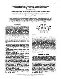 """B,C + D + A"" Approach to Linear Tetrapyrroles"