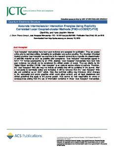 Accurate Intermolecular Interaction Energies Using Explicitly