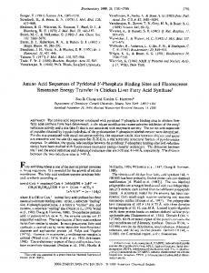 Amino acid sequences of pyridoxal 5'-phosphate binding sites and