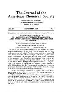 AZIDO-DITHIOCARBONIC ACID IV. AMMONIUM AND