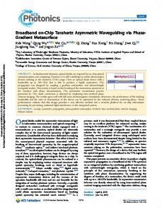Broadband on-Chip Terahertz Asymmetric Waveguiding via Phase