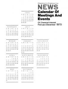 Calendar Of Meetings And Events | C&EN Global Enterprise