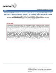 Correlative Voltammetric Microscopy: Structure–Activity Relationships