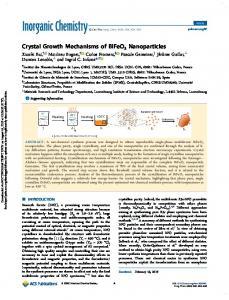 Crystal Growth Mechanisms of BiFeO3 Nanoparticles | Inorganic