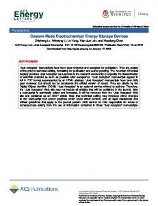 Custom-Made Electrochemical Energy Storage Devices - ACS Energy