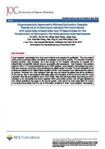 Cyclization ... - ACS Publications