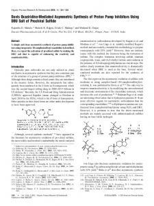 Davis Oxaziridine-Mediated Asymmetric Synthesis of Proton Pump