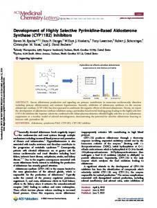 Development of Highly Selective Pyrimidine-Based Aldosterone
