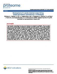 Development of in Planta Chemical Cross-Linking-Based