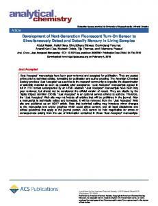 Development of Next-Generation Fluorescent Turn-On Sensor to