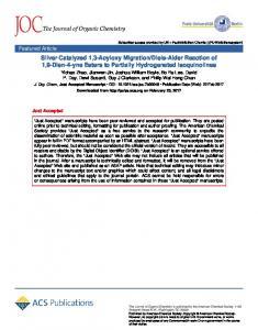 Diels–Alder ... - ACS Publications