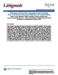 Electrospun Ultrafine Fiber Composites Containing ... - ACS Publications