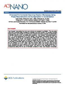 Enhanced Environmental Scanning Electron Microscopy Using Phase