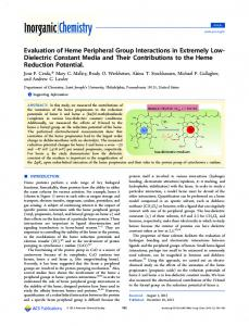 Evaluation of Heme Peripheral Group Interactions in