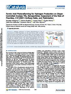 Formic Acid Photoreforming for Hydrogen Production on Shape