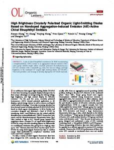 High Brightness Circularly Polarized Organic Light ... - ACS Publications