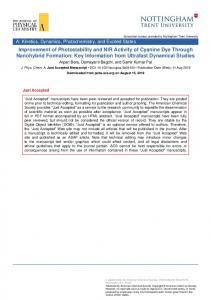 Improvement of Photostability and NIR Activity of Cyanine Dye