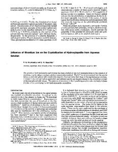 Influence of strontium ion on the crystallization of hydroxyapatite from