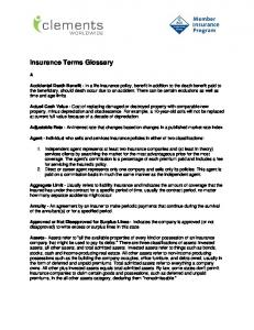 Insurance Terms Glossary