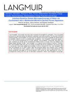 Interface-Sensitive Raman Microspectroscopy of Water via