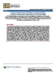 Kirigami-Inspired Highly Stretchable Nanoscale ... - ACS Publications