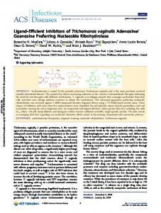Ligand-efficient inhibitors of Trichomonas vaginalis adenosine
