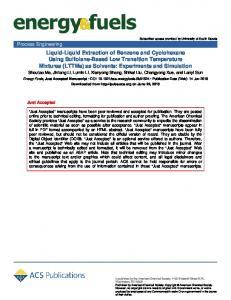 Liquid–Liquid Extraction of Benzene and Cyclohexane Using