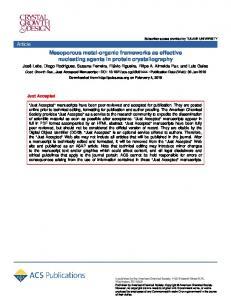 Mesoporous Metal–Organic Frameworks as Effective Nucleating