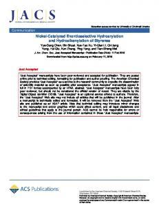 Nickel-Catalyzed Enantioselective Hydroarylation and