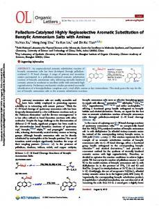 Palladium-Catalyzed Highly Regioselective Aromatic Substitution of