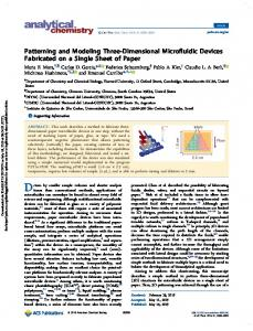 Patterning and Modeling Three-Dimensional Microfluidic Devices