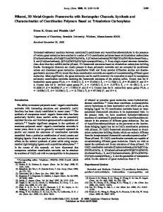 Pillared, 3D Metal-Organic Frameworks with Rectangular Channels