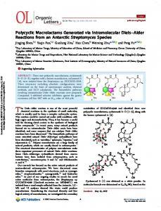 Polycyclic Macrolactams Generated via Intramolecular Diels–Alder