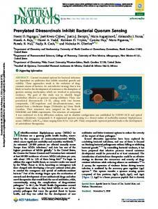 Prenylated Diresorcinols Inhibit Bacterial Quorum Sensing - Journal of