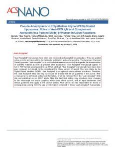 Pseudo-anaphylaxis to Polyethylene Glycol (PEG)-Coated Liposomes