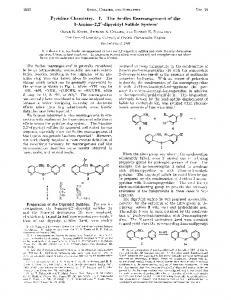 Pyridine Chemistry. I. The Smiles Rearrangement ... - ACS Publications