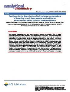 Quantitative Determination of Bulk Molecular Concentrations of β