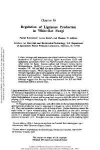 Regulation of Ligninase Production in White-Rot Fungi - ACS