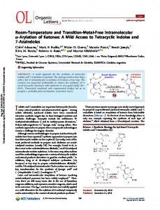 Room-Temperature and Transition-Metal-Free Intramolecular α