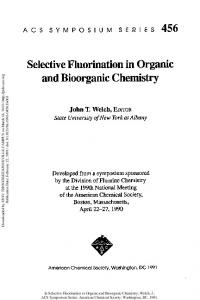 Selective Fluorination in Organic and Bioorganic Chemistry, Copyright