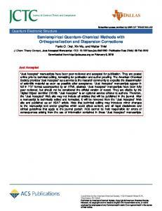 Semiempirical Quantum-Chemical Methods with Orthogonalization