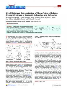 Silver(I)-Catalyzed Dearomatization of Alkyne ... - ACS Publications