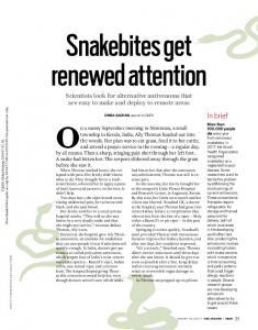 Snakebites get renewed attention - C&EN Global Enterprise (ACS