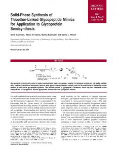 Solid-Phase Synthesis of Thioether-Linked Glycopeptide