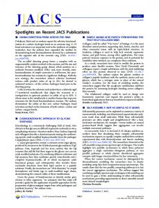 Spotlights on Recent JACS Publications - Journal of the American