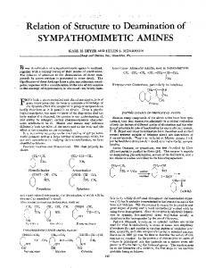 SYMPATHOMIMETIC AMINES F
