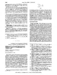 Synthesis and x-ray structural characterization of a rhodium (I